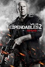 BRUCE WILLIS EXPENDABLES 2 AUTHENTIC 27X41 DOUBLE SIDED THEATRE POSTER