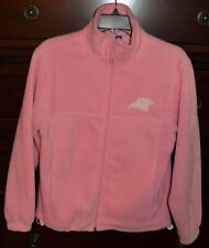 REEBOK Pink Fleece CAROLINA PANTHERS Zip Up Jacket Coat Women's EUC NFL Team L