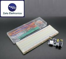 BREADBOARD 830 PUNTI 140 JUMPERS PONTICELLI MB102 ALIMENTATORE ARDUINO SET KIT