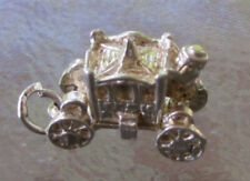 Opens To Queen Bracelet Charm 6Gr Vintage Sterling Silver Fancy Royal Coach