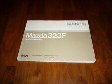 Mazda 323 F Bedienungsanleitung 08/1990