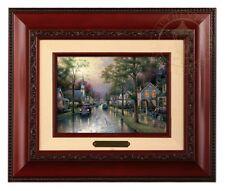 Thomas Kinkade Hometown Morning Framed Brushwork (Brandy Frame)