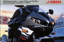 Prospekt 2003 Yamaha Motorräder Maxi Roller FZS 1000 Fazer TT 600 R YZF R6 PW 80