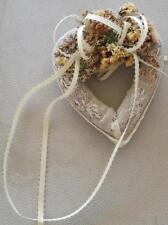 Pretty Hand Made Potpourri Sachet - Pretty Heart Shape - Lacy - Beautiful Smell