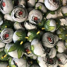 Artificial Fabric Flower Heads - Grey Style 71 - 5 Pack