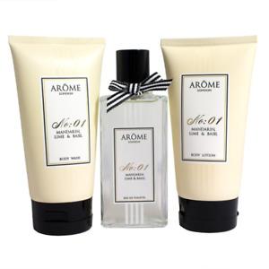 AROME London Mandarin, Lime and Basil No.1 Gift Set.100ml Body Wash & Lotion