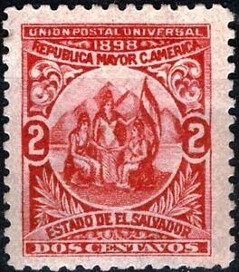 EL SALVADOR  1898  ALLÉGORIE UNION CENTRAL AMÉRICAINE  YT:n°164  Neuf ★ / MH