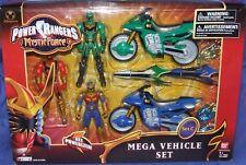 "Power Rangers MYSTIC FORCE 5"" Solaris Knight Red Green Ranger Vehicle Set New"