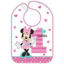 Disney Minnie Mouse Fun to be One 1st Birthday Party Vinyl Baby Bib