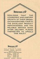 1923 Original Vintage Rootes Group Automobile Car Logo Art Print Ad