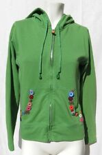Amy Tangerine USA womens green full zip hooded buttons sweatshirt size M