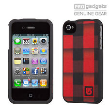 Genuine Speck Fitted Burton Case Cover for Apple iPhone 4 4S Buffade Red Black