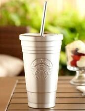New Starbucks 2012 Limited Edition STAINLESS STEEL 16oz Grande Cold Cup Tumbler