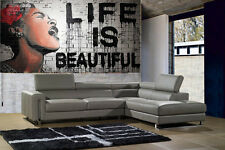 280cm x 125cm GRAFFITI PAINTING banksy life is beautiful STREET ART custom