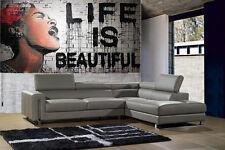 200cm GRAFFITI   PAINTING banksy life is beautiful STREET ART commission custom