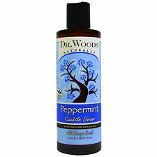 Castile soap Peppermint with Fair Trade Organic Shea Butter (236ml) - Dr. Woods