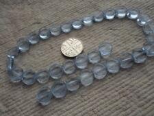 Disco de cristal Strand cuentas ~ 10 mm ~ ~ transparente azul cielo