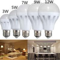 3/5/7/9/12W E27 Warm Cool White LED Light Lamp Globe Bulb Energy Saving 220V