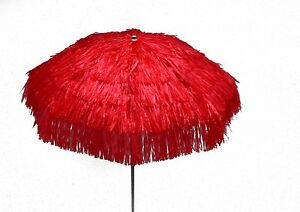 Maffei Parasol Kenya Red Art.6 Raffia d.78 11/16in With Lining made in Italy