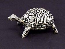 Tortoise English Pewter Pin Cushion by A E Williams Birmingham UK Boxed