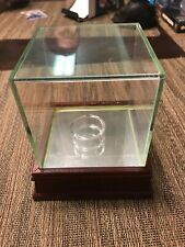 Steiner Sports Glass Baseball Display Case CHERRY WOOD AND MIRROR