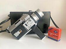CANON Auto Zoom 814 Super8 movie camera - Original Case & Manual &Films