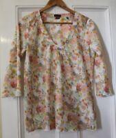 Marc O'Polo Floral Fabric Organic Cotton Top Tunic Size EU 38 UK 10