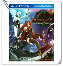 PSV Deception IV The Nightmare Another Princess SONY VITA Action Games Koei