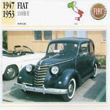 1947-1953 FIAT 1100 B/E Classic Car Photograph / Information Maxi Card