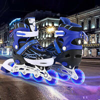 ANCHEER Inline Skates Adjustable with Light Up Wheels Beginner Roller Flashing