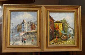 Oil Painting Caroline Burnett Lot of 2 Framed