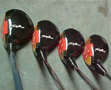 PERSIMMON Toney Penna Golf Clubs Refinish Wood Set Driver 3 4 5 w New Tour Grips