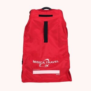 Booster Car Seat Airline Airplane Gate Check Travel Bag -misica - Red
