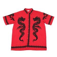 90s Vintage Tribal Tattoo Shirt | Medium | Retro Graphic Y2k Festival Dragon
