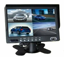 "7"" Quad Display Colour Monitor for Car Reversing Cameras"