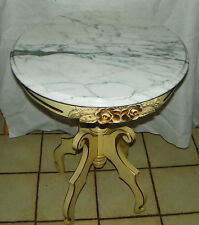 Mahogany Marble Top Lamp Table by Victorian  (RP-T589)