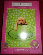 "Puppy Dog Jigsaw Puzzle 550 pcs ""Green With Envy"" Pcs  Sealed KEITH KIMBERLIN"