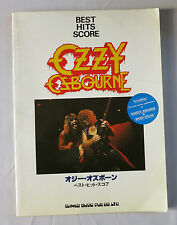 OZZY OZBOURNE Japan Music Score Book with Guitar TAB 7songs, Randy Rhoads RARE!