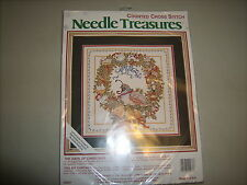 """JCA Counted Cross Stitch """" The Days of Christmas"""" Kit"""