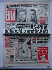 Periódico imagen, desde el, 22.1.1991 Maria Whittaker, Klaus Kinski, Tatjana Patitz