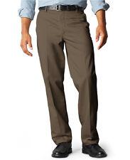 NEW DOCKERS PREMIUM Brown Cotton BELMONT Straight Fit Flat Front Pants Sz 30x30