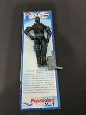 Vintage GI Joe India Funskool Pepsodent Snake Eyes on Card w Gun Cobra moc