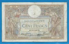 GERTROLEN  Billet 100 FRANCS  Luc Olivier Merson 19-5-1938  O.59194