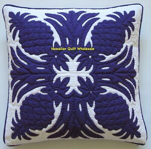 Hawaiian quilt hand quilted/appliquéd 1 cushion handmade pillow cover PINEAPPLE
