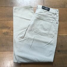 GITANO Vintage 90s Beige High Waisted Jeans Tapered Leg Women's Size 14 Petite