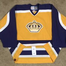 Ccm Authentic Los Angeles Kings La Crown Nhl Hockey Jersey Gold Yellow Home 56