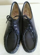 Awesome SAS Women's dark gray leather comfort shoes Size 8 S Made in USA