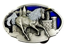 Unicorn & Castle Belt Buckle Fantasy Themed Animal Authentic Arroyo - Siskiyou
