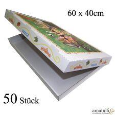 50 Pizzakartons 60 x 40 x 5cm Pizzakarton Pizzabox Karton für Pizza Box Kraft