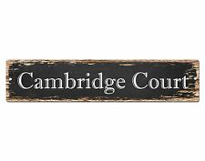 SP0627 CAMBRIDGE COURT Street Sign Home Cafe Store Shop Bar Chic Decor Gift